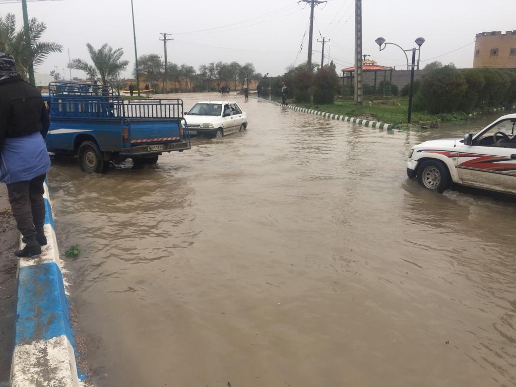 سیل در شهر های خوزستان