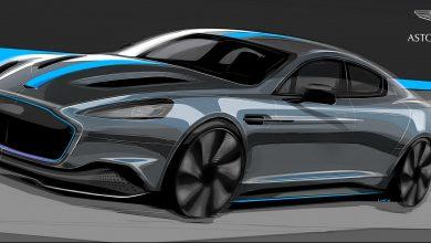 تصویر اولین خودرو برقی استون مارتین رونمایی شد : Aston Martin Rapide E