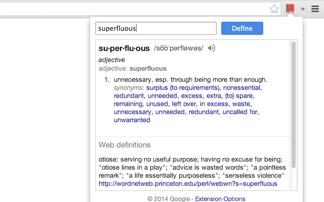 افزونه Google Dictionary