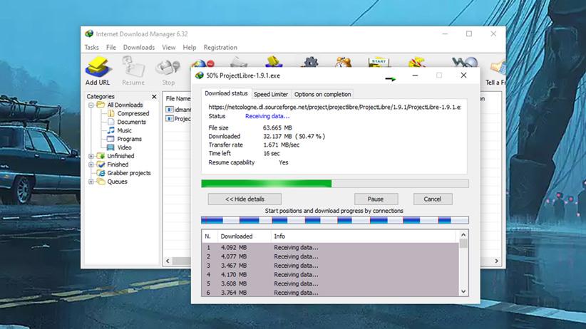 برنامه Internet Download Manager