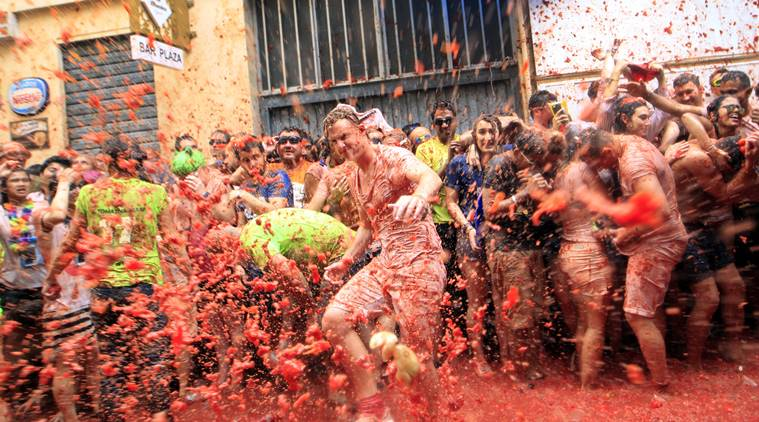 جشن گوجهفرنگی در اسپانیا