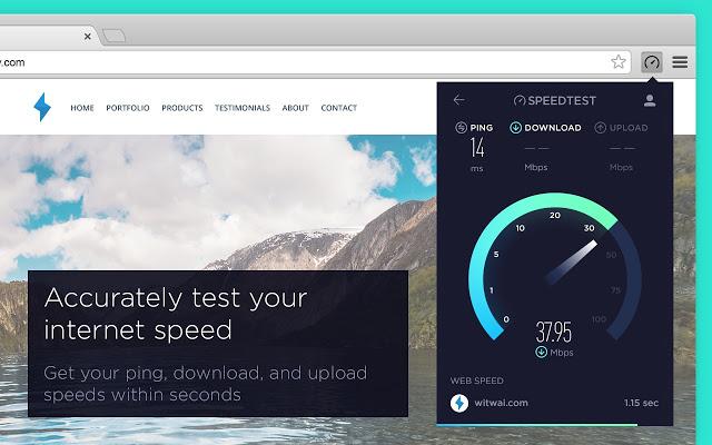 افزونه Speedtest