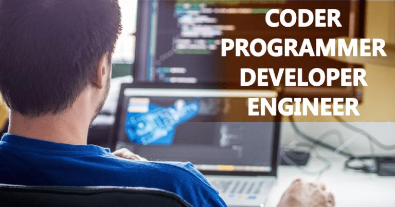 مقایسه بین برنامه نویس و کد نویس و مهندس نرم افزار