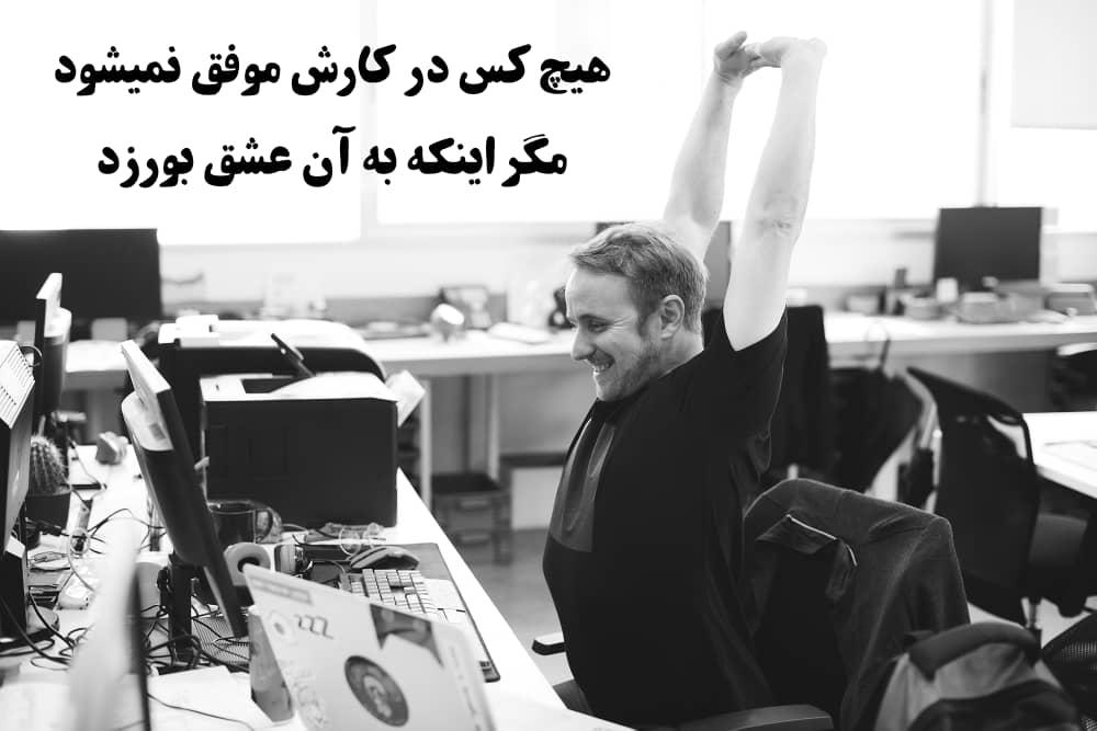 عاشق کار و شغلت باش !