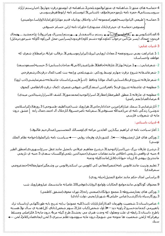 تاریخ ادبیات - صفحه ۶