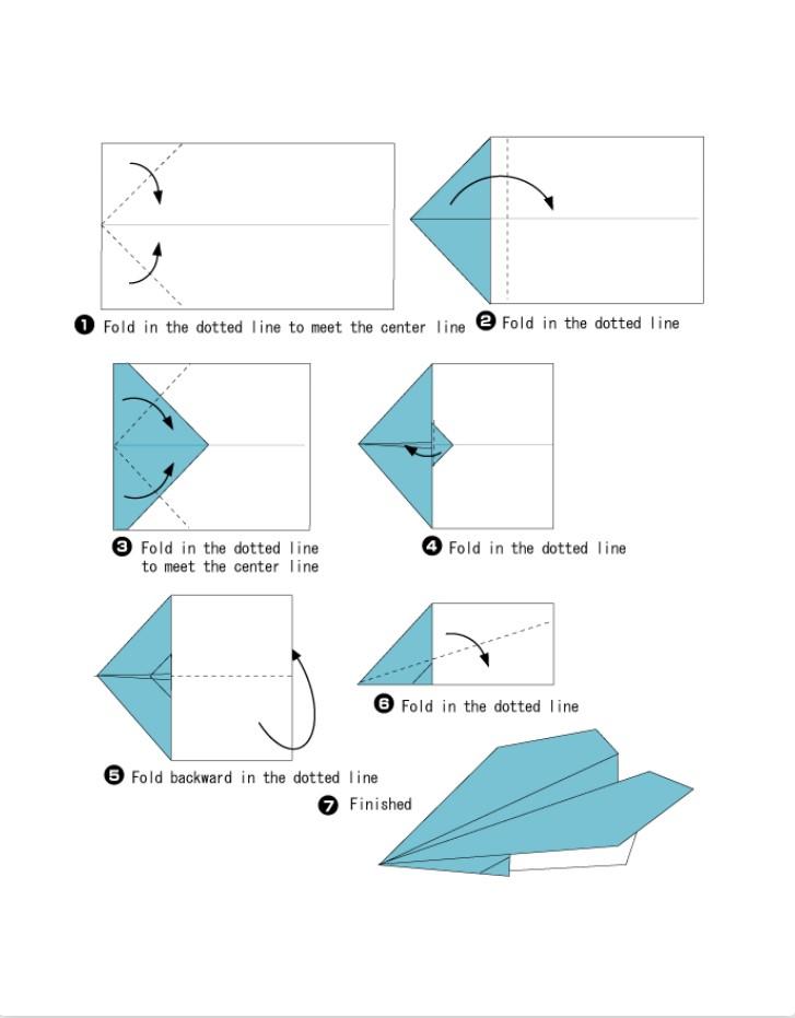 اوریگامی ( Origami ) انواع هواپیما و موشک
