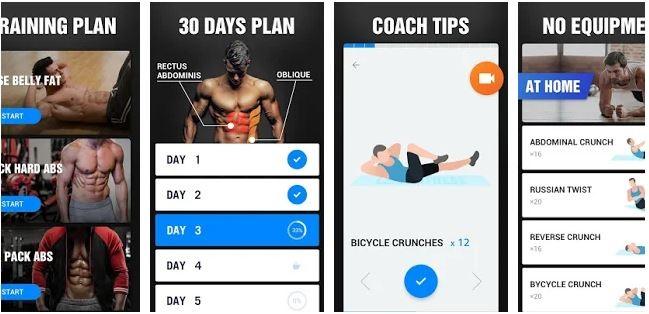 برنامه Six Pack in 30 Days