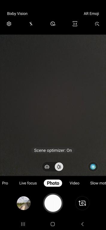 محیط برنامه دوربین گوشی سامسونگ گلکسی A50