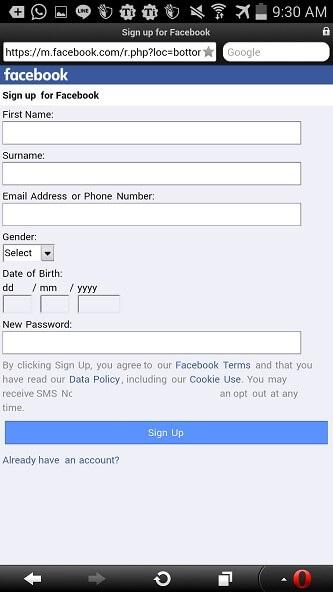 ساخت اکانت facebook