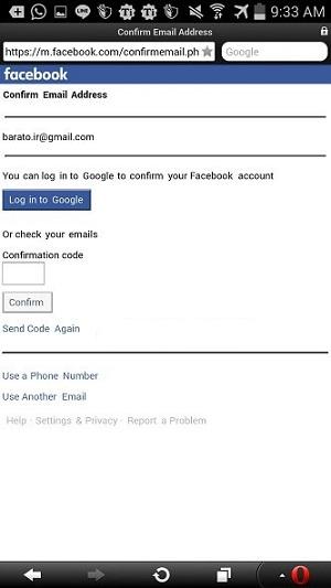 ساخت اکانت فیس بوک