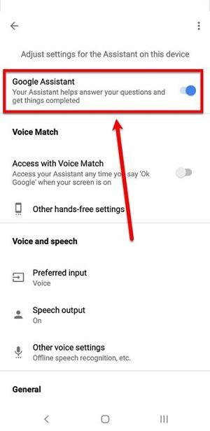 غیرفعال کردن Google Assistant