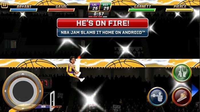 بازی چنده نفره اندروید NBA Jam