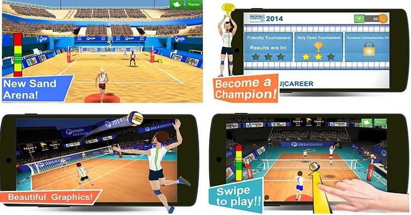 ویژگی های بازی Volleyball Championship