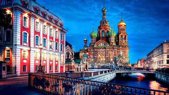 شهر سن پترزبورگ روسیه