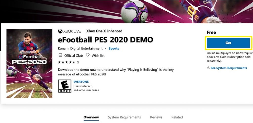 آموزش دانلود و نصب بازی Pes 2020 در کنسول ایکس باکس وان - Xbox One