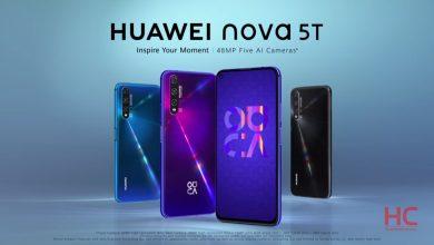 تصویر گوشی هواوی نوا 5 تی ، Nova 5T با دوربین چهارگانه معرفی شد
