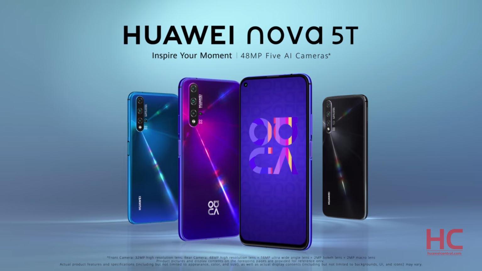 گوشی هواوی نوا 5 تی ، Nova 5T