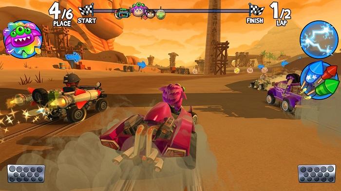 بازی مسابقات اتومبیلرانی Beach Buggy Racing