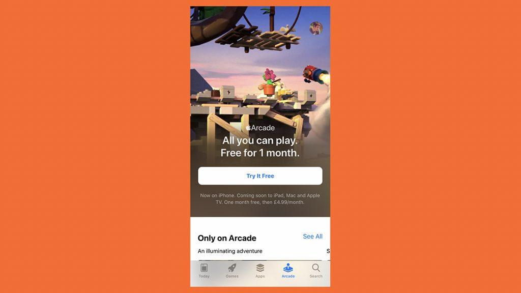 استفاده رایگان از سرویس گیم اپل آرکید به مدت یک ماه
