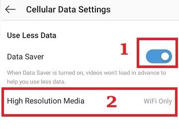 کنترل مصرف اینترنت اینستاگرام