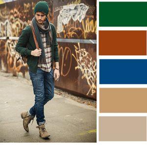 ترکیب رنگ مناسب پاییزی