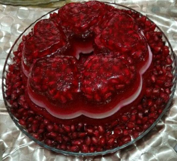 طرز تهیه ژله گل انار مخصوص شب یلدا
