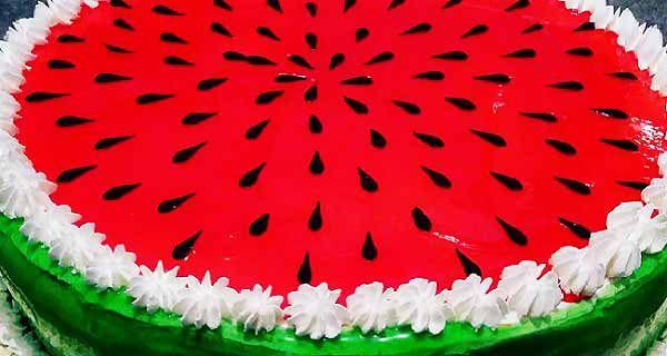 کیک هندوانه ای شب یلدا