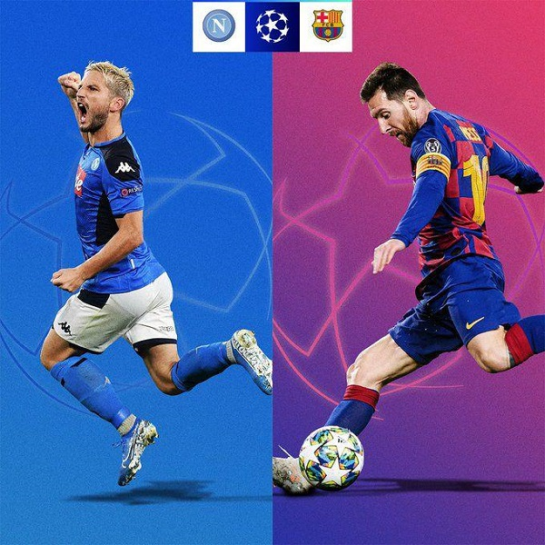 مرحله یک هشتم نهایی لیگ قهرمانان ، بارسلونا ناپولی
