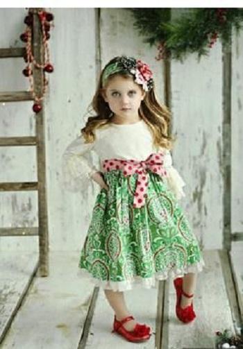 مدل لباس سفید و سبز کریسمس