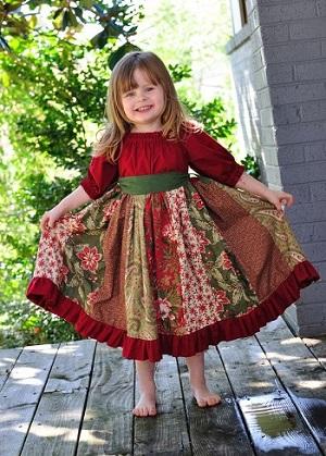 مدل لباس قرمز و کوتاه بچگانه کریسمس