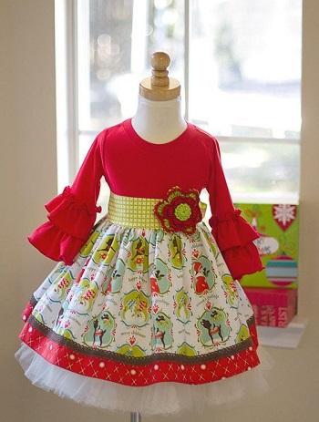 مدل لباس کریسمس بچه گانه دخترانه