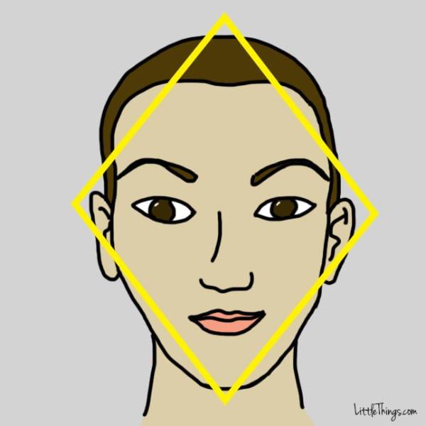 فرم صورت الماس شکل