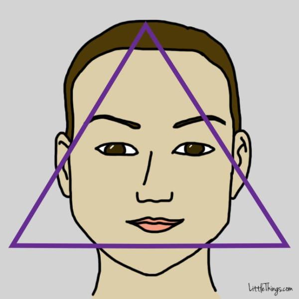 فرم صورت مثلث