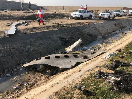 واکنش ها به علت سقوط هواپیمای اوکراین