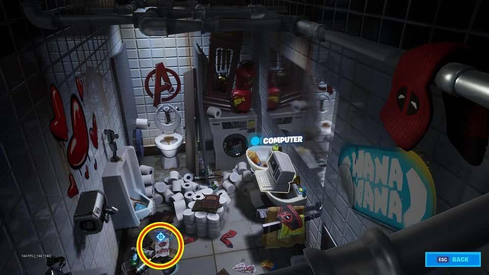 راهنمایی چلنج هفته اول Deadpool فورتنایت