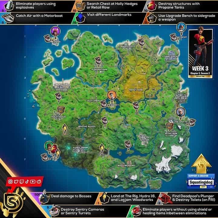 راهنمای چالش TNTINA'S TRIAL بازی فورتنایت