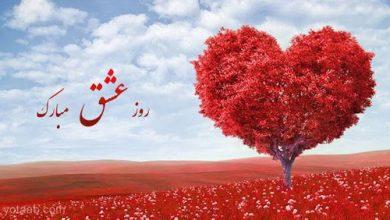 تصویر متن تبریک ولنتاین ۲۰۲۰ ❤️؛ پیامک زیبا روز عشق ۹۸