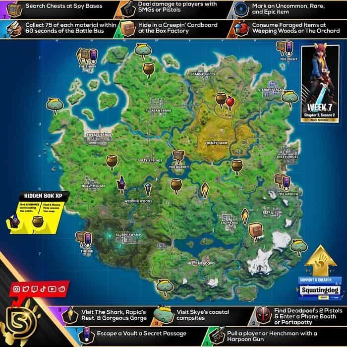راهنمای چالش SKYE'S ADVENTURE بازی فورتنایت ، هفته هفتم