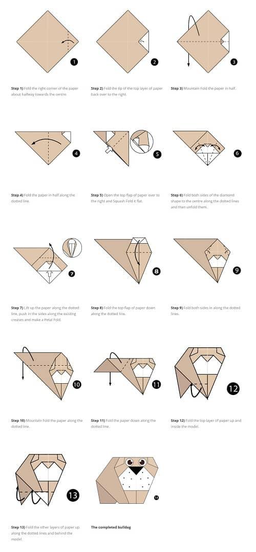 آموزش ساخت اوریگامی سگ