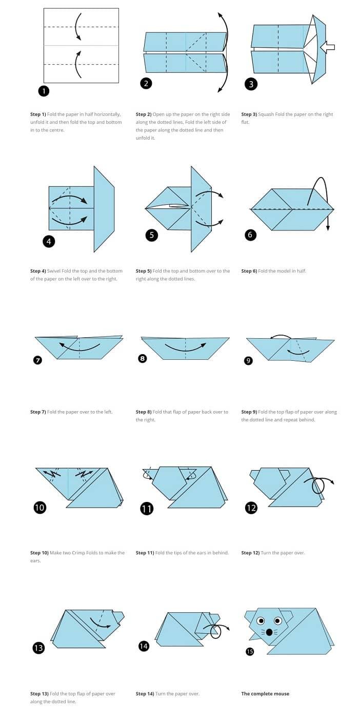 آموزش ساخت اوریگامی موش