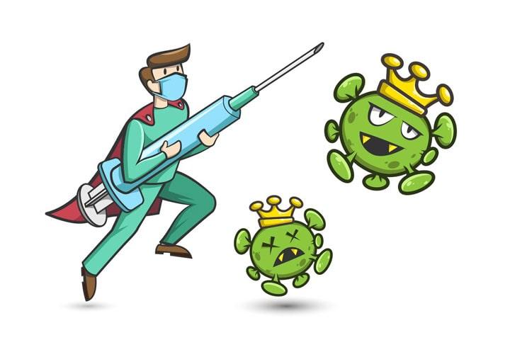 نقاشی کودکانه درباره بیماری ویروس کرونا