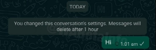 زمانبندی حذف پیام در واتساپ