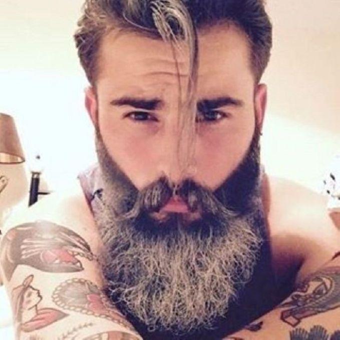 ریش بلند مردانه خاکستری