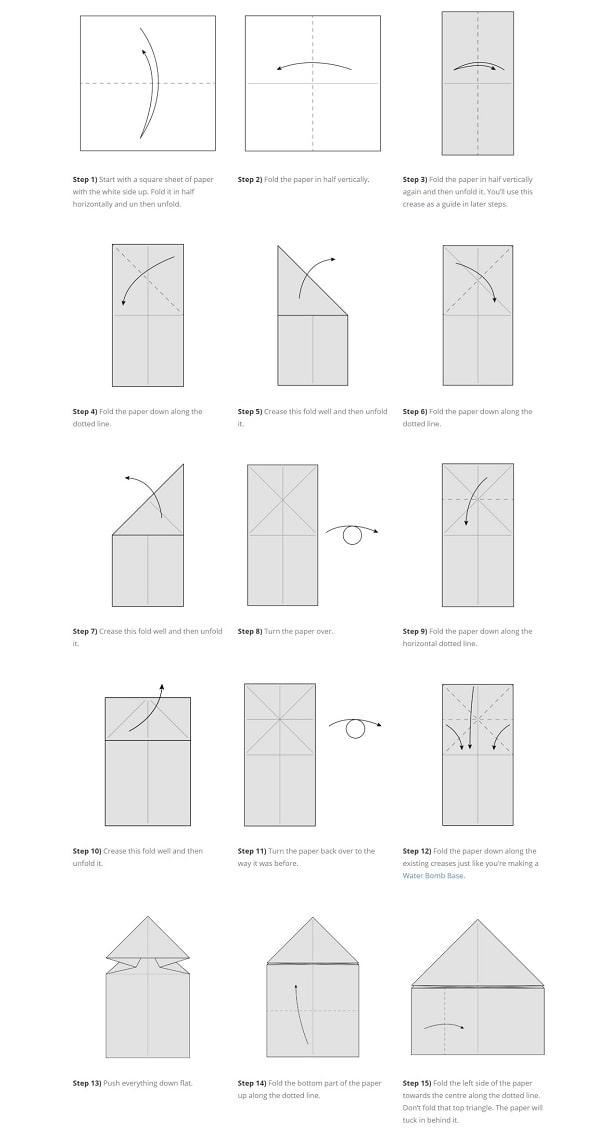 آموزش ساخت اوریگامی قورباغه پرشی