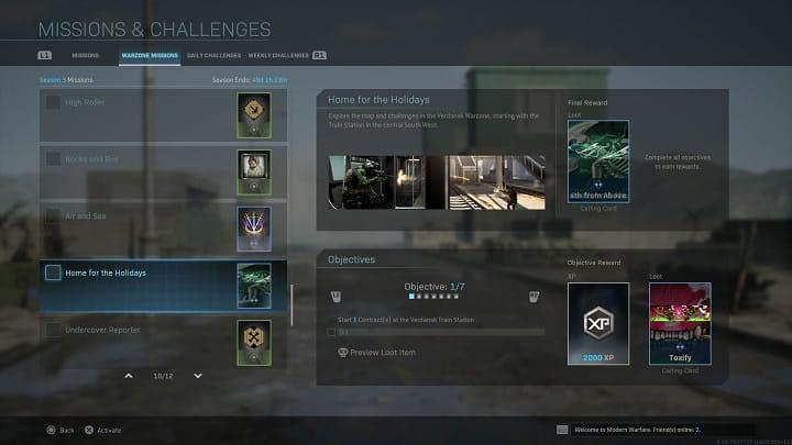 راهنمای چالش Home for the Holidays بازی Call of Duty Warzone