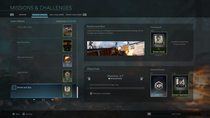 راهنمای ماموریت Rocks and Box بازی Call of Duty Warzone
