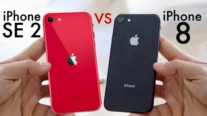 مقایسه آیفون اس ای 2020 با iPhone 8