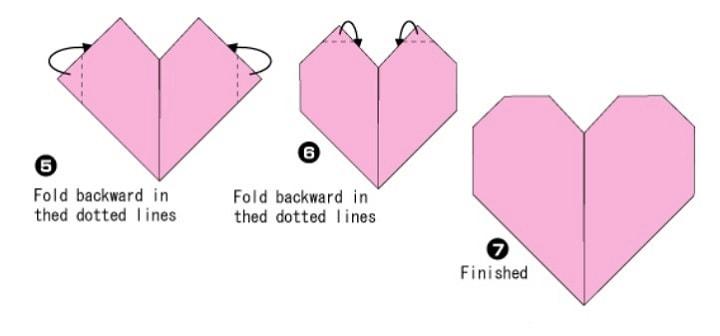 آموزش ساخت اوریگامی قلب ساده و راحت