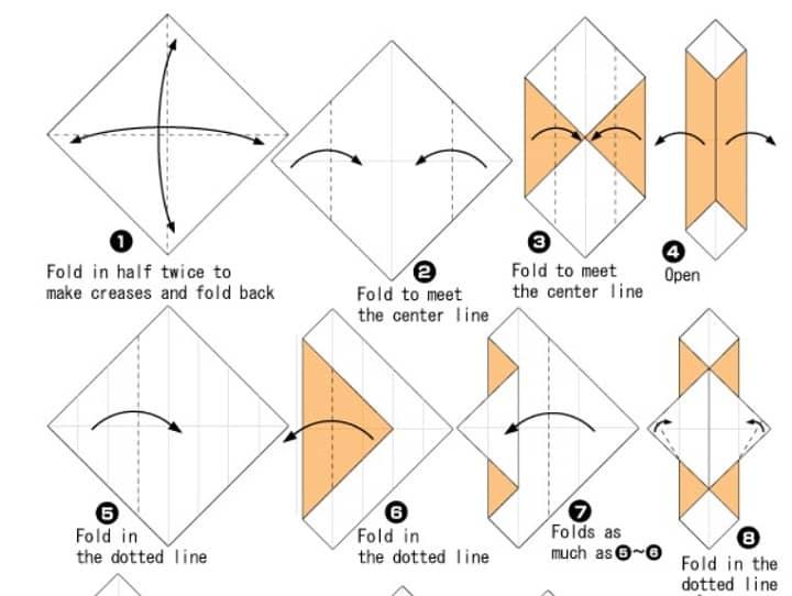 آموزش ساخت اوریگامی خرس قلبی