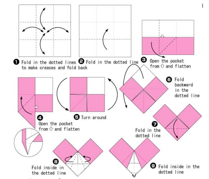 آموزش ساخت اوریگامی خرگوش قلبی
